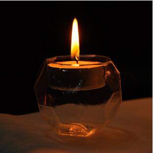 European diamond transparent glass candlestick candlelight dinner at home Decoration wedding gift(China (Mainland))