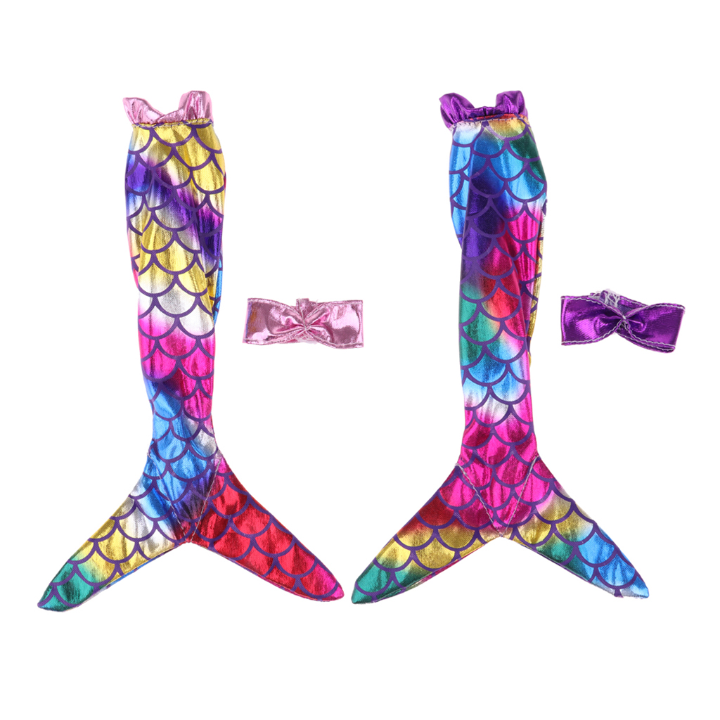 Lovely Swimsuit Mermaid Suspender Dress Swimwear Clothes For   Doll Accessory 2Pcs/Set