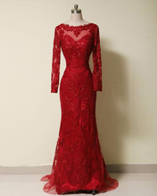 Jark Tozr Custom Made Appliques Beading Red Tulle Long Sleeve Formal Evening Dresses Real Picture Vestido Festa Aliexpress Login(China (Mainland))