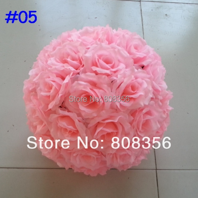New Arrivals 4pcs 20cm Diameter Silk Kissing Rose Flowers Ball for Wedding Party Decoration Flowers Several Colors Available(China (Mainland))