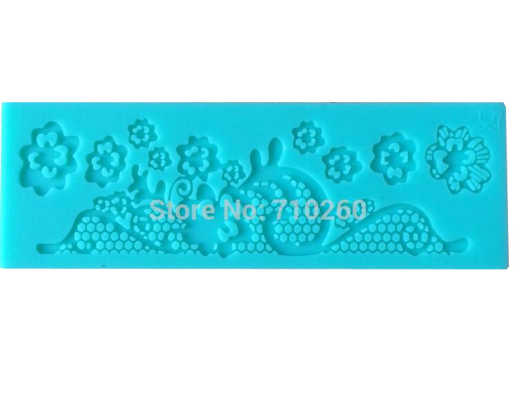 A011 Best Seller! Free Shipping Fondant Cake Instant Lace Silicone Mold Sugar Paste Sugar Art Tools Cake Decoration(China (Mainland))
