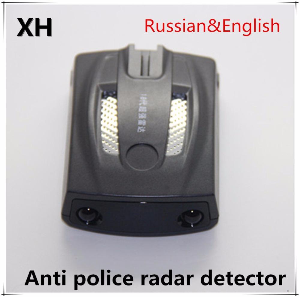High quality mini car accessories detecteur Russian/English Voice 360 Degree Anti police Radar detector for car Speed control(China (Mainland))