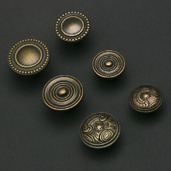 Bronze kichen cabinet knobs Drawer pulls Antique  zinc alloy  dresser wardrobe cupboard furniture door handles pulls knobs