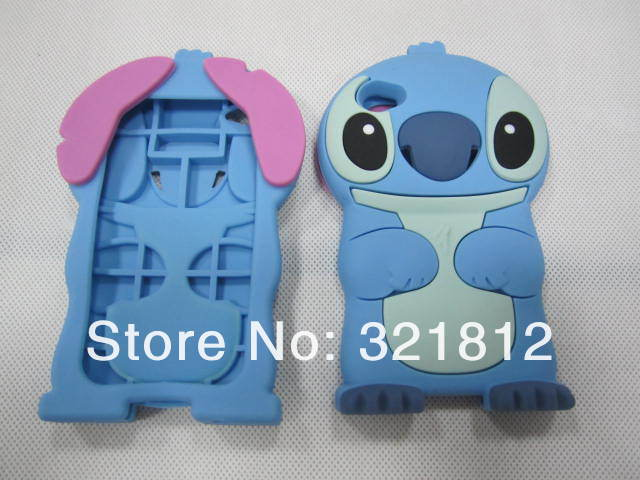 For Apple ipod touch 4 4th 4g / 6 6g 6th 5 5g 5th 3D Stitch case Cute Cartoon lovely soft silicone rubber back cases skin 100pcs(China (Mainland))