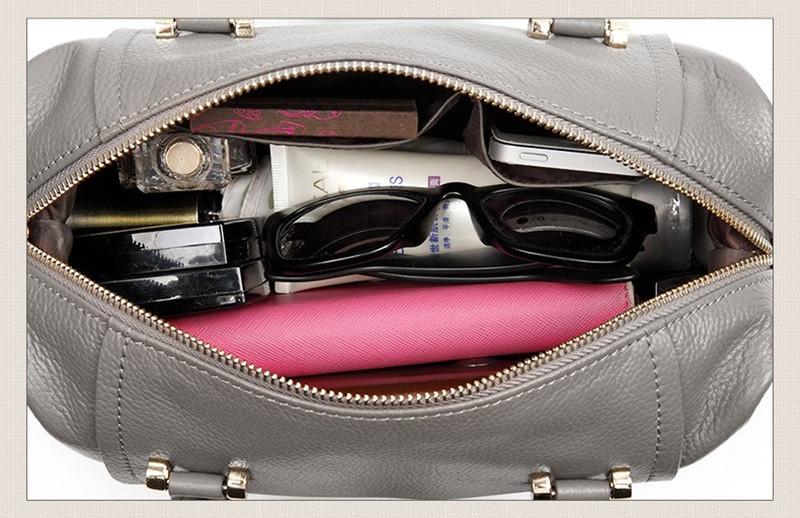 New Genuine Leather Women Handbags Cow Leather Women Shoulder Bag Fashion Messenger Bags Cross Body Bag for Women