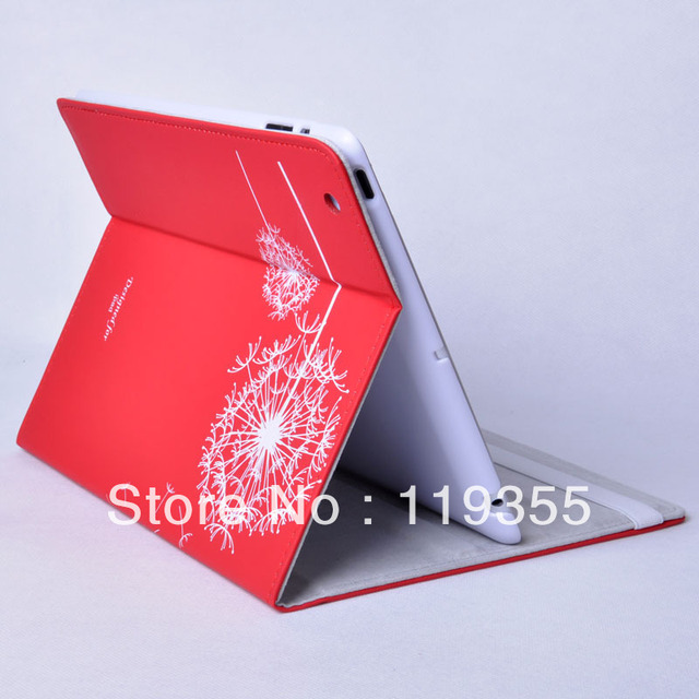 High Quality New Dandelion Protective Smart Cover Skin Case Stand for Apple for new iPad for iPad 2 3 for ipad 4 Free Shipping