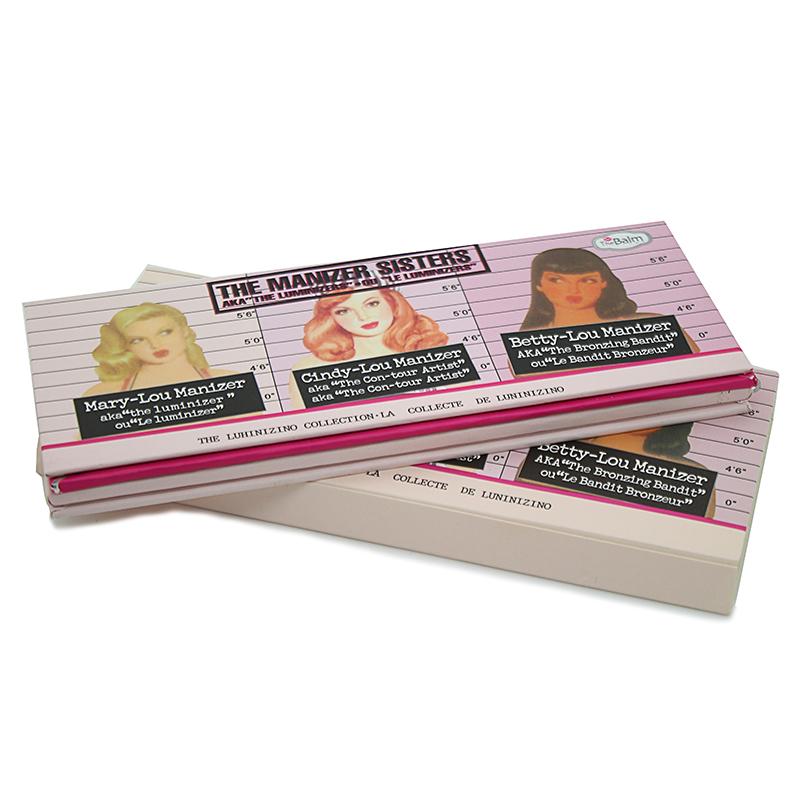 Hot New o Manizer irmãs frente pressionado pó 3 cores em 1 The maquiagem Balm destaque brilho Bronzer em pó Palette cosméticos