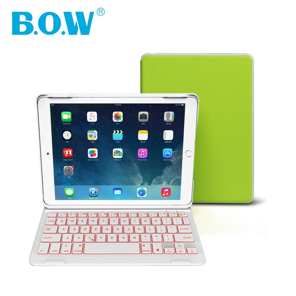 Backlight wireless keyboard For iPad Air 2(iPad 6) Bluetooth Keyboard with Auto Sleep/Wake For iPad 6 Case [ With Free Gift ](China (Mainland))