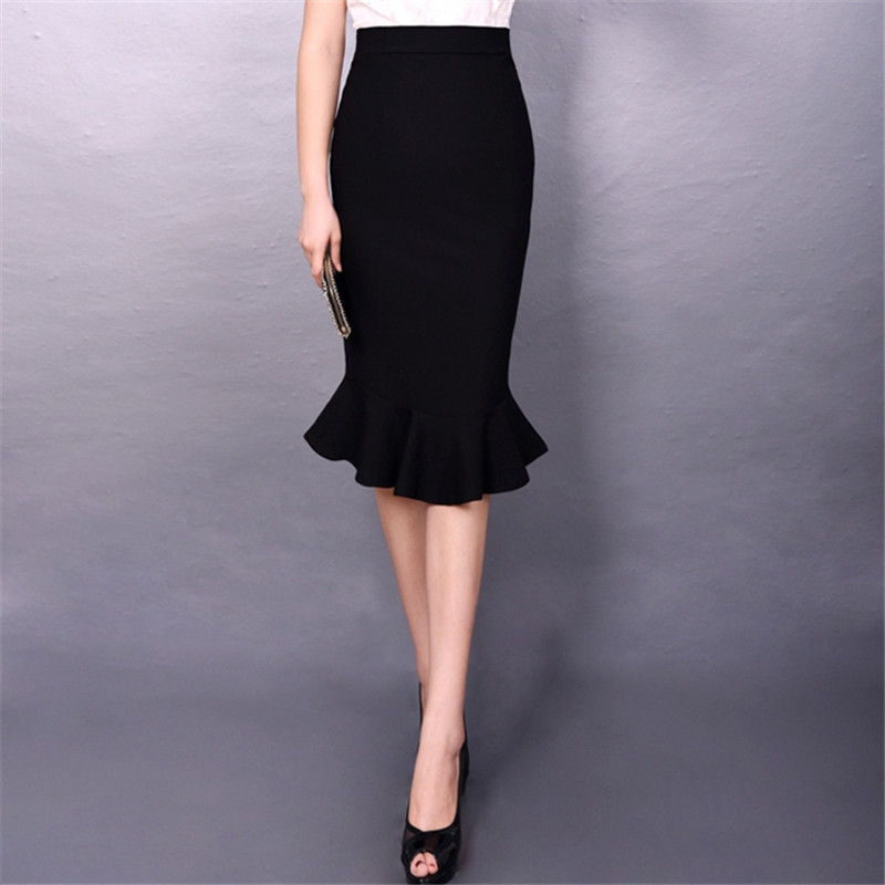 Ladies Long Formal Skirt 5XL 6XL 7XL Plus Size Black ...