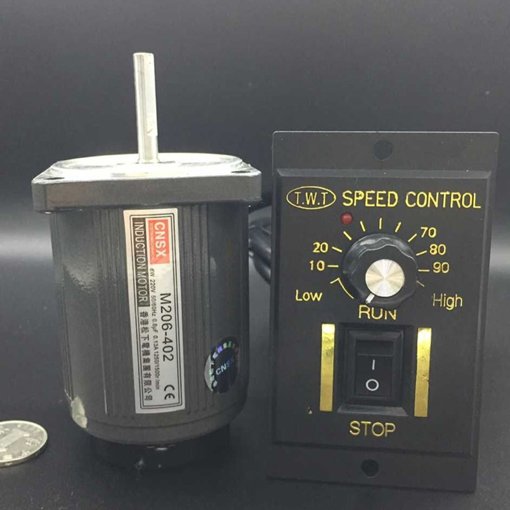 220V 0.13A capacitor 0.75uf 6W Single phase Reversible Micro damping motor high speed 1350rpm