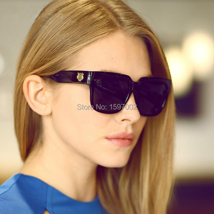 Designer Eyeglass Frames For Large Heads : 2015 New Fashion tiger head Sunglasses big lens retro Sun ...