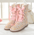New Arrival Promotion Women Strap High Tube Cow Hide Boots Knee high Lace Oxford Genuine Leather