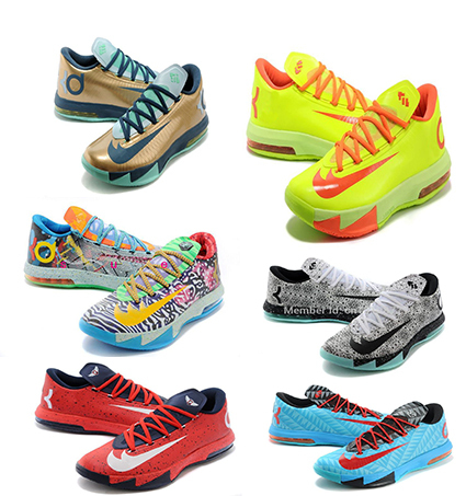 2015Top Free Shipping Newest KDs 6 Shoes Men's Basketball Shoes Men Sport Shoes 21 Colors Size 40-46 KD 6(China (Mainland))
