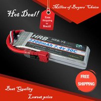 Free Shipping HRB Wholesale Price 7.4V 2200mah 30C Max 55C Toys & Hobbies For Helicopters RC Models Li-polymer Battery