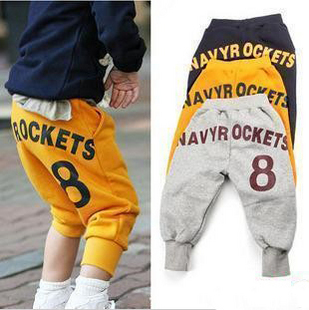 Free shipping  2013 spring 8 boys clothing girls clothing baby 9 pants trousers breeched<br><br>Aliexpress