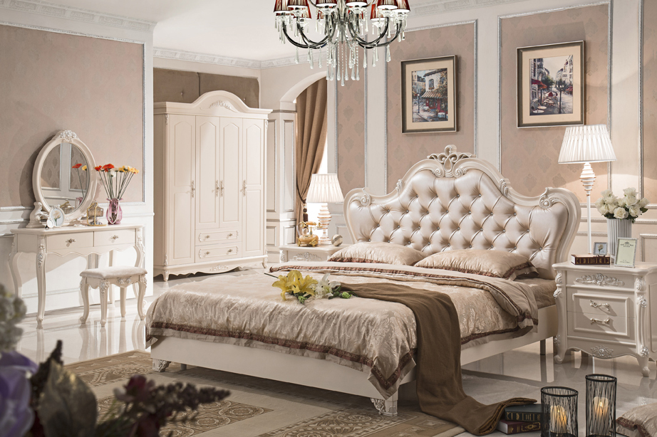 Antique Style French Furniture Elegant Bedroom Sets Py 7627 In Beds