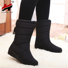Winter Women Boots Female Waterproof Tassel Ankle Boots Down Snow Boots Ladies Shoes Woman Warm Fur Botas Mujer Elastic Band(China (Mainland))