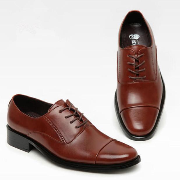 new genuine leather men oxfords shoes fashion solid lace up business male shoes low top ankle men wedding shoes plus size eur 47<br><br>Aliexpress