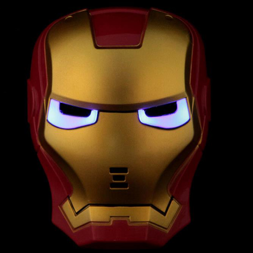 10 pcs/lot Factory direct light-emitting light-emitting toys cartoon show mask Avengers Iron Man Mask(China (Mainland))