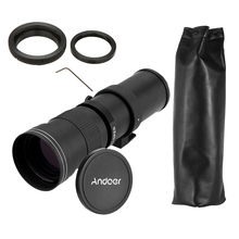 Buy Andoer 420-800mm F/8.3-16 Super Telephoto Manual Zoom Lens T-Mount T/T2 Adapter Ring Canon EOS DSLR Cameras for $98.18 in AliExpress store