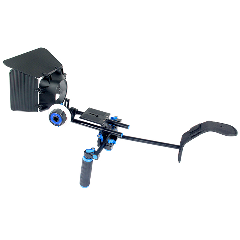 3in1 DSLR Rig Set Movie Kit Film Making System Shoulder Mount Follow Focus Matte Box for Canon Nikon Sony Camera Video Camcorder<br><br>Aliexpress