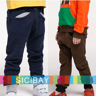 Baby Kids Autumn Cotton Leisure Bottoms Boys Spring Cotton Pants,Casual Wear,Fashion Trousers,Free Shipping C0186
