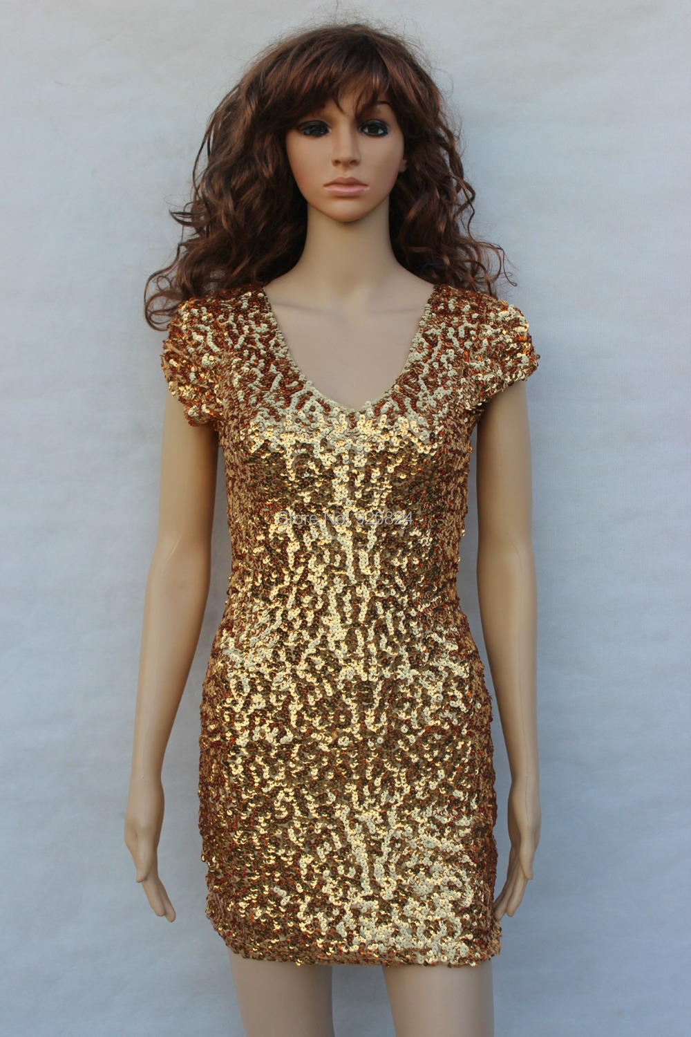 The new double v-neck shirt DS sequins nobody costumes singer performing dress dance stage under the dress(China (Mainland))