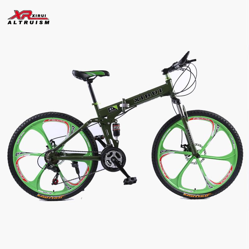 Mountain bike 26 inch wheel 24 speed damping integrated folding bicycles bikes men bicicleta mountain bike mondraker aerofolio(China (Mainland))