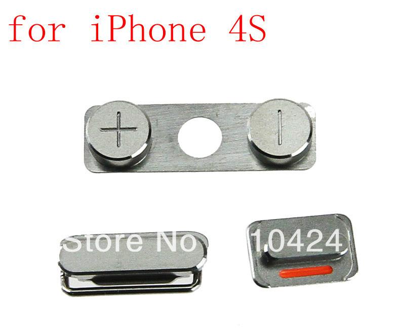 2x устанавливает боковая кнопка питания клавиша регулировки громкости звука переключатель замена для iphone 4s