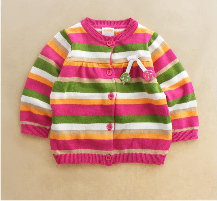 LYuanX40 Wholesale 2015 New Autumn Girls Cardigans Striped Appliques Cherry Girls Sweatercoats Lolita Children Clothes Lot<br><br>Aliexpress
