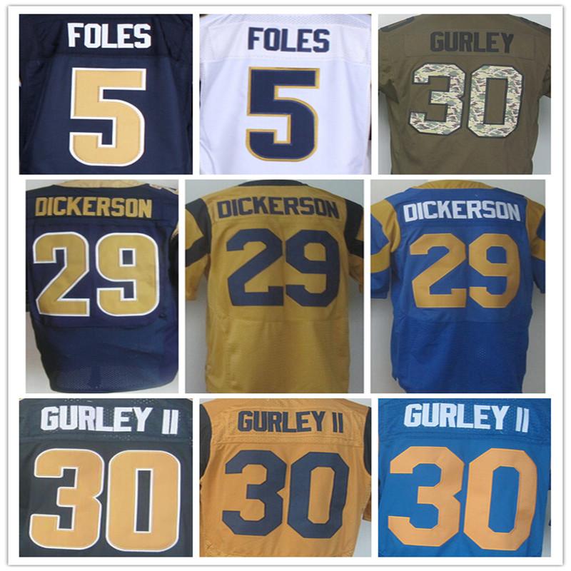 New Style #30 Todd Gurley jersey 100% Stitched Elite Jerseys Authentic #5 Nick Foles Jersey Size:M L XL XXL XXXL,Cheap Sale(China (Mainland))
