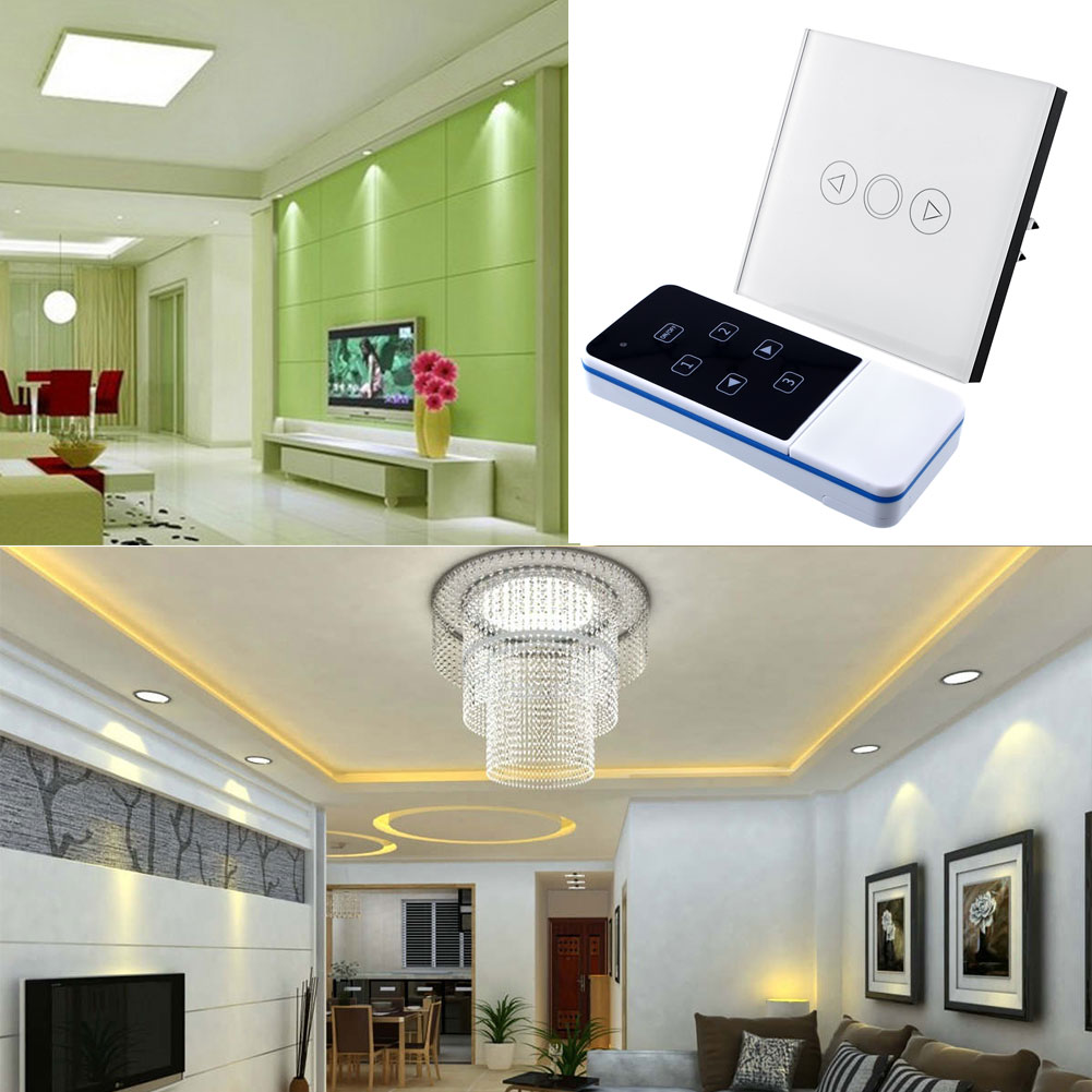 1 Gang Light Lamp Office Touch Sensor Switch Remote Efficient Dimmer Smooth White Glass Panel Fashion EU<br><br>Aliexpress