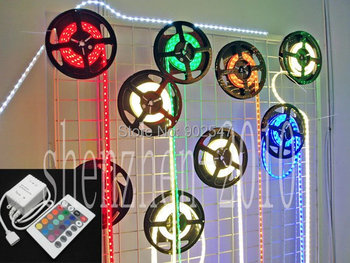 5M SMD 5050 RGB 150 LED Flexible Strip + IR controller Remote + power supplier-free shipping