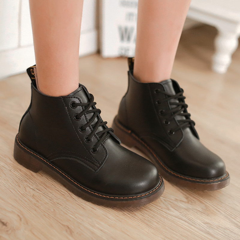 New arrival unique platform simple lace up round toe fashion boots for women popular solid comfortable Plush ankle boots(China (Mainland))