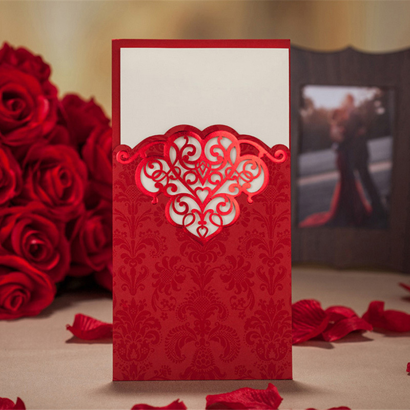 3 Color Elegant Customizable Beautiful Printable Wedding Party Invitation Cards Decoration Favors Laser Cut Flower Decoration(China (Mainland))