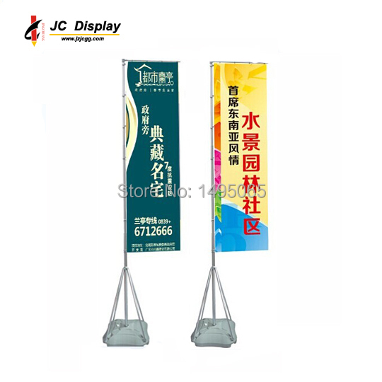 5M Aluminium-pole Water Base Outdoor Advertising banner stand/Flag Pole( 7M Available)(China (Mainland))