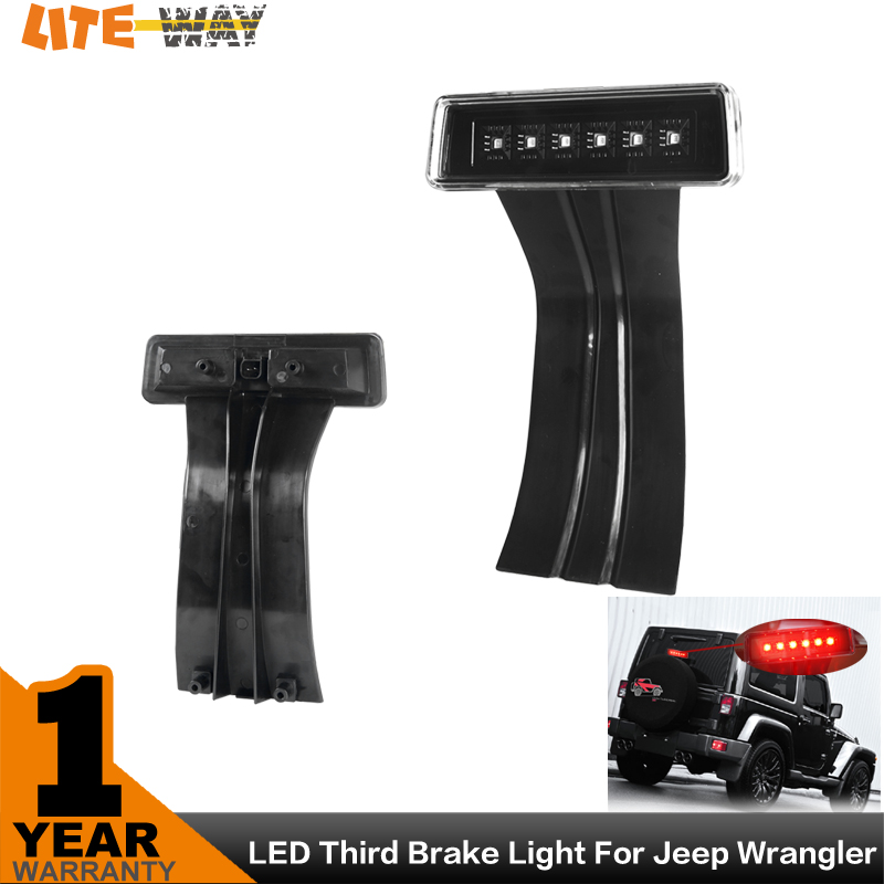Auto 15W Clear 6 LED Rear Tail 3rd Brake Light Third Brake Lamp Fit For Jeep Wrangler JK Sport Altitude Unlimited(China (Mainland))