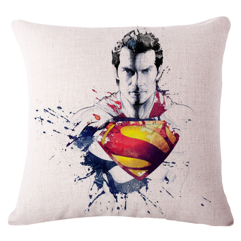 45X45CM Modern Cushion Cover Superman Decorative Pillows For Sofa Can be Custom Made Drop Shipping Housse De Coussin Nordic(China (Mainland))