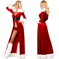 2016 Women Sexy Christmas Cosplay Costumes Halloween Festival Cosplay Uniform Long Dress Santa Clause Cosplay for