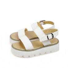 size 32-43 New fashion platform sandals for women sexy white orange black high heels wedges sandals dress shoes
