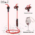 M J Hight Quality Waterproof Bluetooth Earphones Wireless Magnetic Magnet Stereo Sports Running In Ear Earbuds