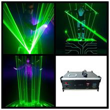 3W Green Laser Stage Light Laserman Show Equipment Machine Laser Man Projector For DJ Party Stage Performance Wedding Nightclub