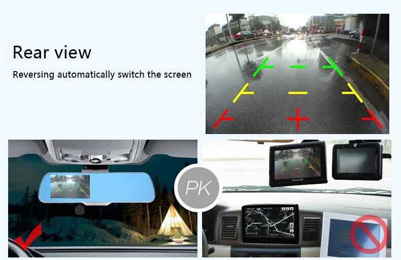 5 inch dvr rearview mirror android GPS navigation HD1080P DVR Camera Recorder Rear View FM 8GB Navitel 9.5 or full Europe map