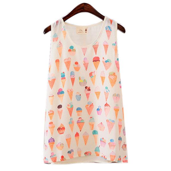 Hot Women Fitted Sleeveless T Shirt Graphic Printed T Shirt Vest Tank T Shirt Tops  S M L Hot(China (Mainland))