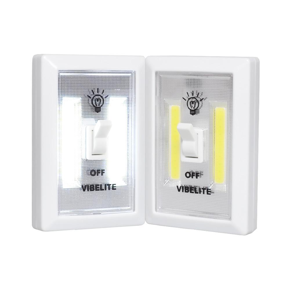 Vibelite Cordless LED Under Cabinet Storage Step Nightlight On Off Switch Stick on magnetic Energy Efficient Emergency COB Light(China (Mainland))