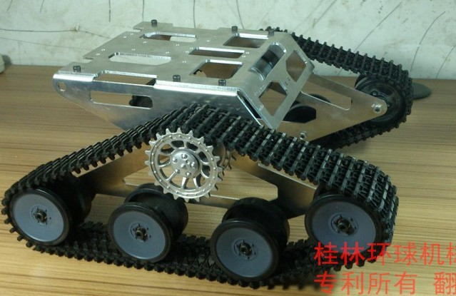 Tank Car Chassis/ robot chassis for DIY(China (Mainland))