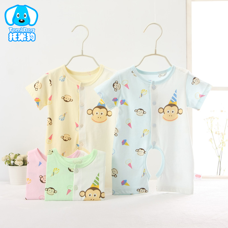 Baby Boy Girl Clothes Short Sleeve Print 2016 Summer Baby Romper Newborn Next Jumpsuits & Rompers Baby Product(China (Mainland))
