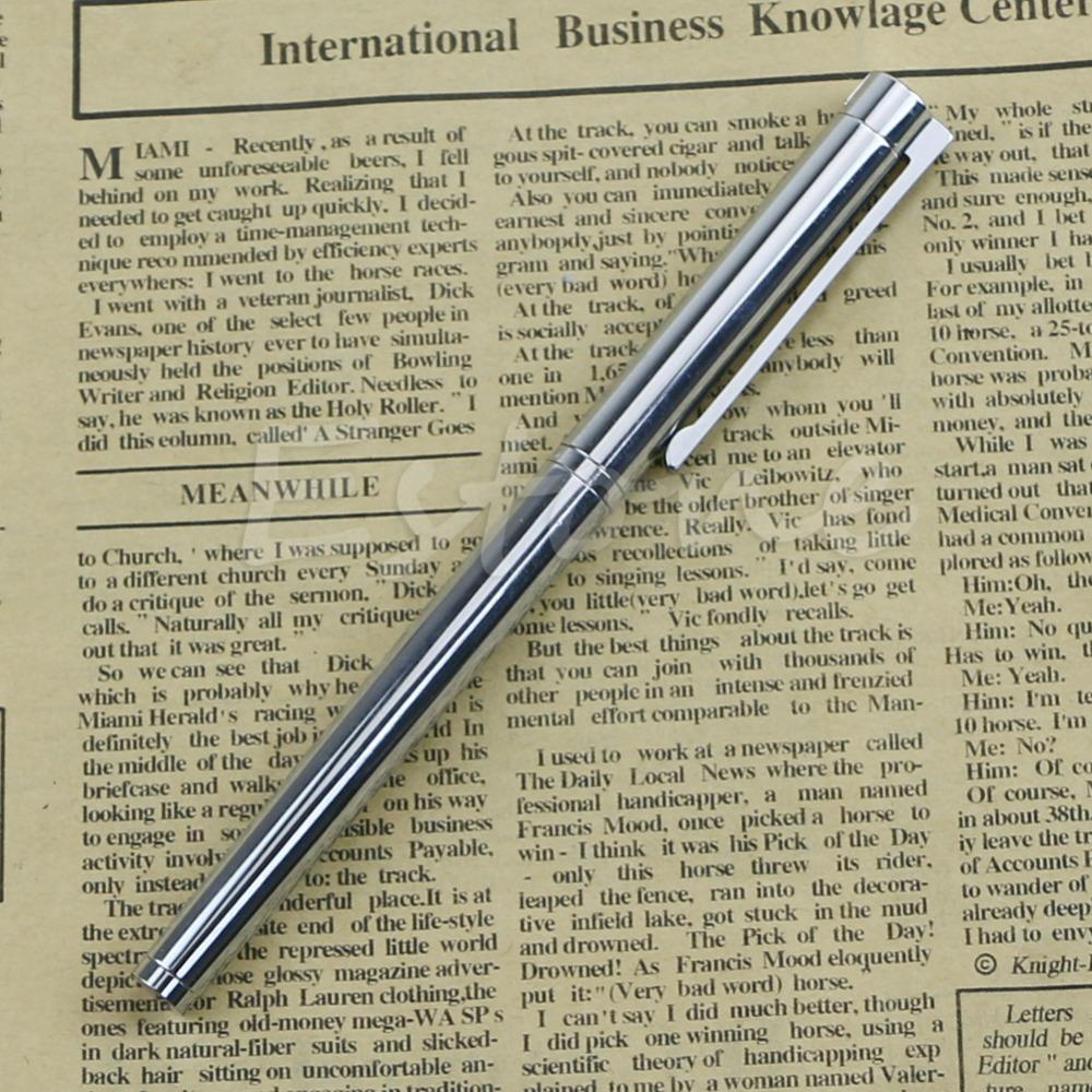 C18 Free Shipping Fashion Executive Complete Silver Fine Hooded Nib Fountain Pen<br><br>Aliexpress
