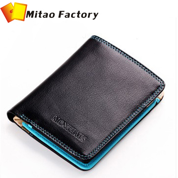 Brand Wallet 2014 MONTHAUS Genuine Leather Male Wallet, Short Design First Layer Cowhide Purse Horizontal Vintage Men Wallets
