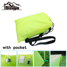 iSingo Fast Inflatable Sleepping bag laybag hangout Air Camping Bed Beach Sofa Lounge Only Need Ten Seconds Sleeping bags(China (Mainland))